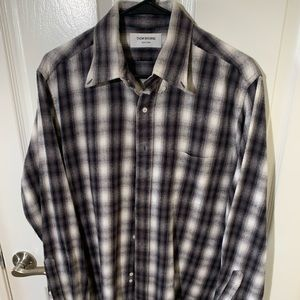 Thom Browne plaid flannel